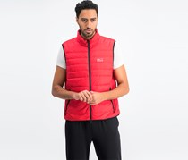 Hackett Men's Sleeveless Full Zipper Jacket, Red