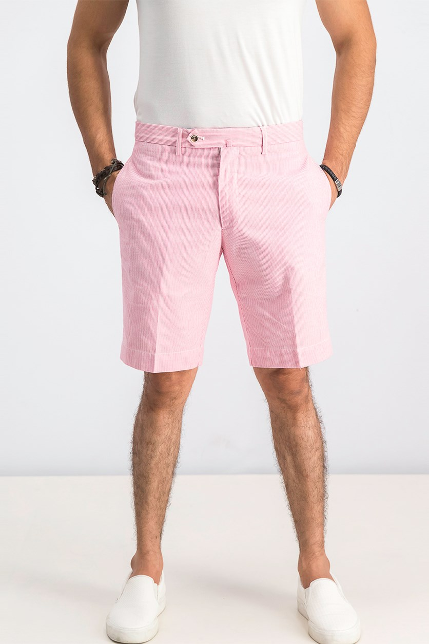 Men's Nautical Stripe Shorts, Hibiscus