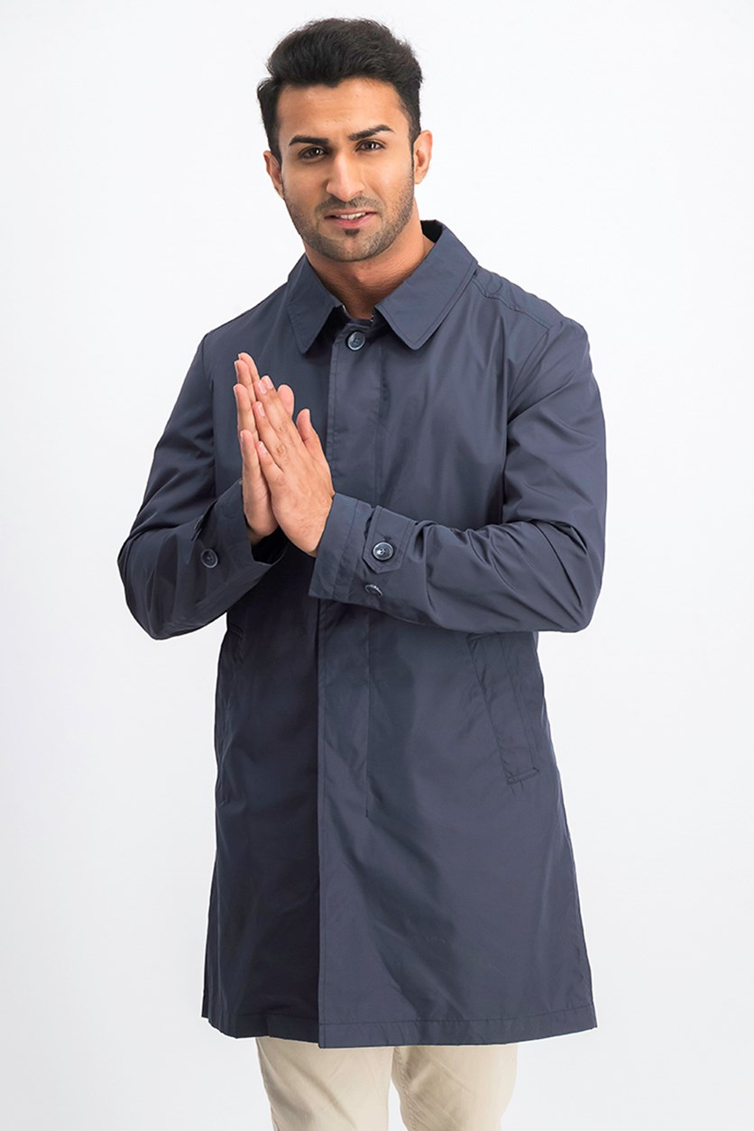 Men Long Sleeve Jacket, Navy