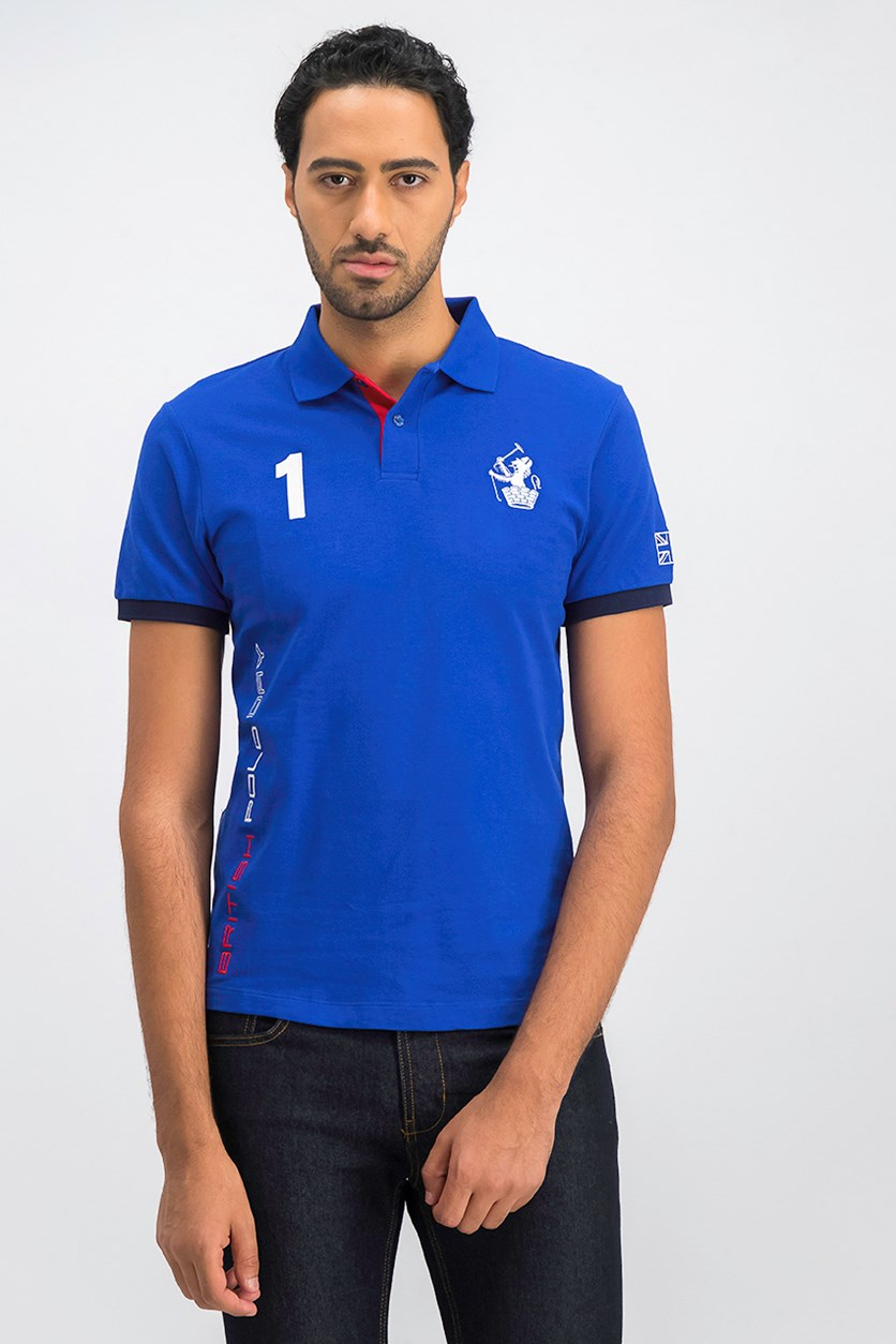Slim Fit Men's Polo Shirt, Blue