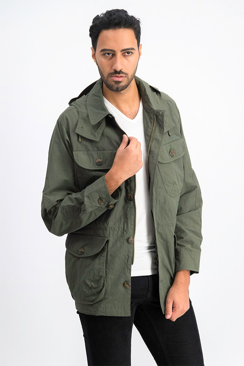 Men's Long Sleeve Golborne Parka Jacket, Olive