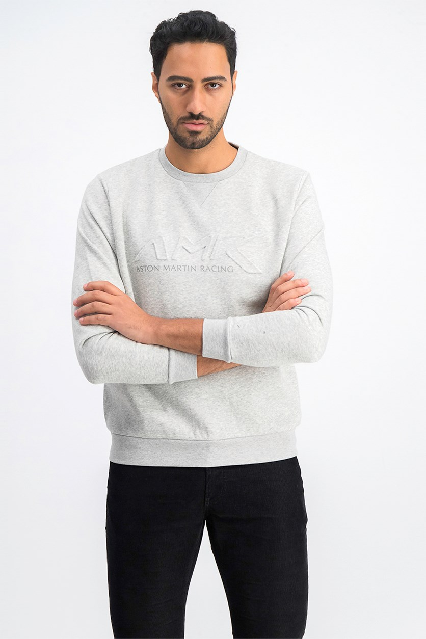 Men's Long Sleeve Crew Neck Sweaters, Gray