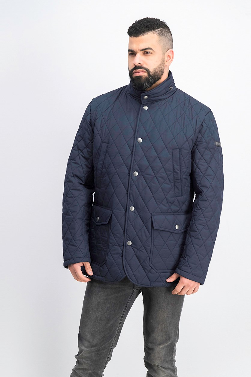 Men's Quilted Zipper Out Jacket, Navy