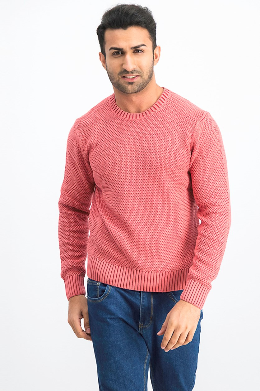 Men's Pullover Sweater, Cardinal Red