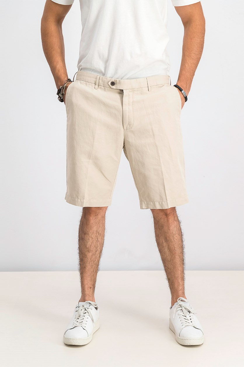 Men's Belt Loops Chino Short, Safari