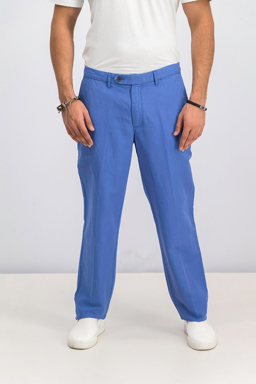 Men's Belt Loops Chino Pants, Blue