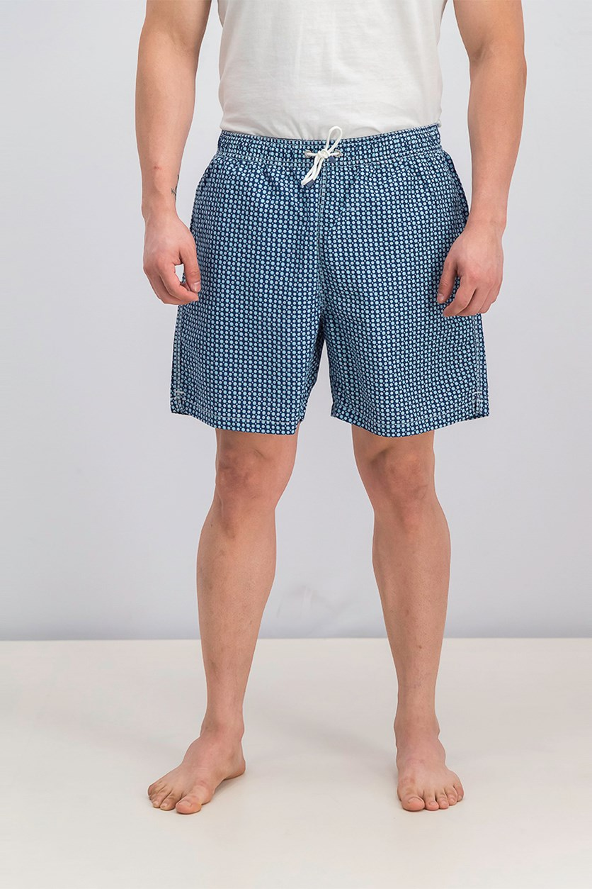 Men's Drawstring Board Shorts, Blue