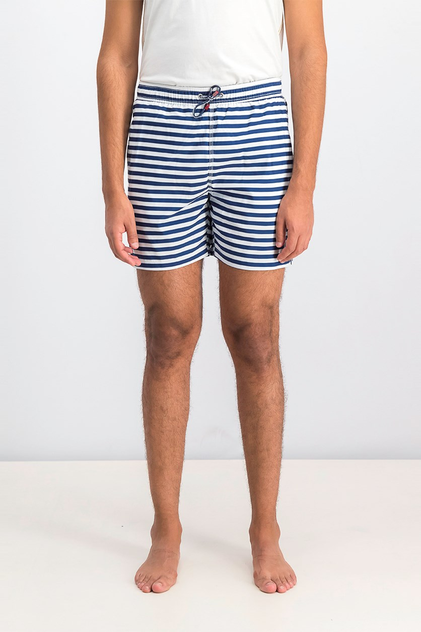 Men's Deck And Chair Stripe Shorts, Navy/White