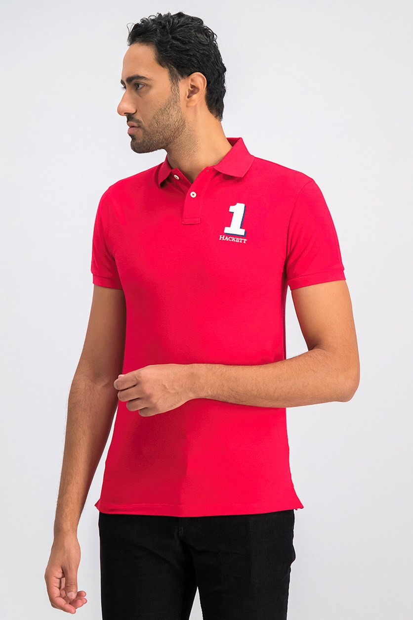 Men's Classic Fit Polo Shirt, Red