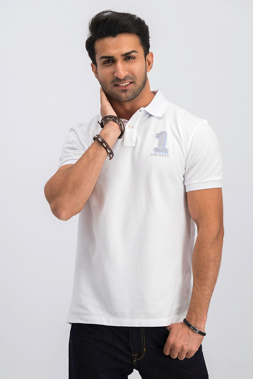 Men's Classic Fit Polo Shirt, White