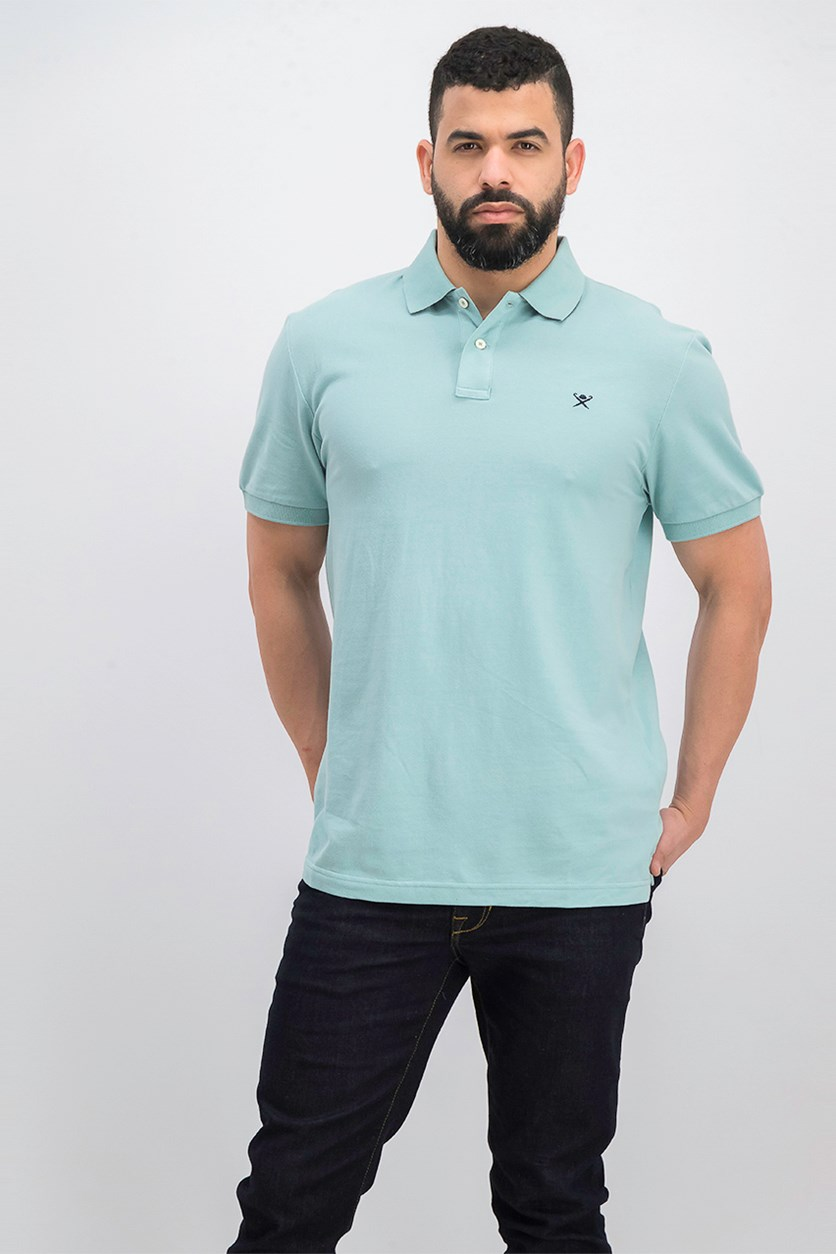 Men's Short Sleeve Slim Fit Polo Shirt,  Mint Green