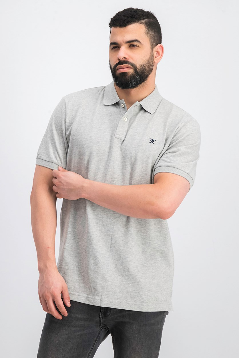 Men's Short Sleeve Slim Fit Polo Shirt, Gray