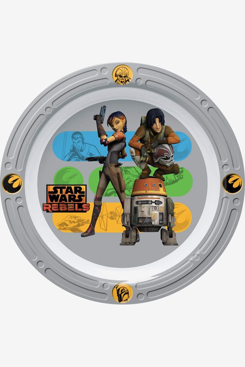 Star Wars Rebels Hope Embossed Plate, Grey/White Combo
