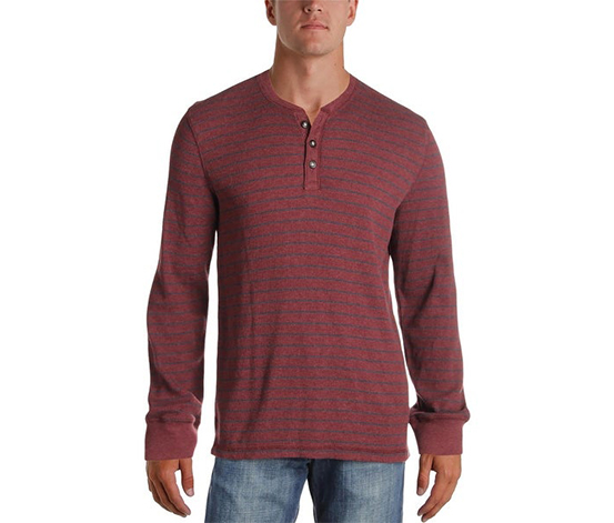 G.h. Bass Co. Men's Stripe Texture Pullover Sweater, Chocolate Truffle Heather