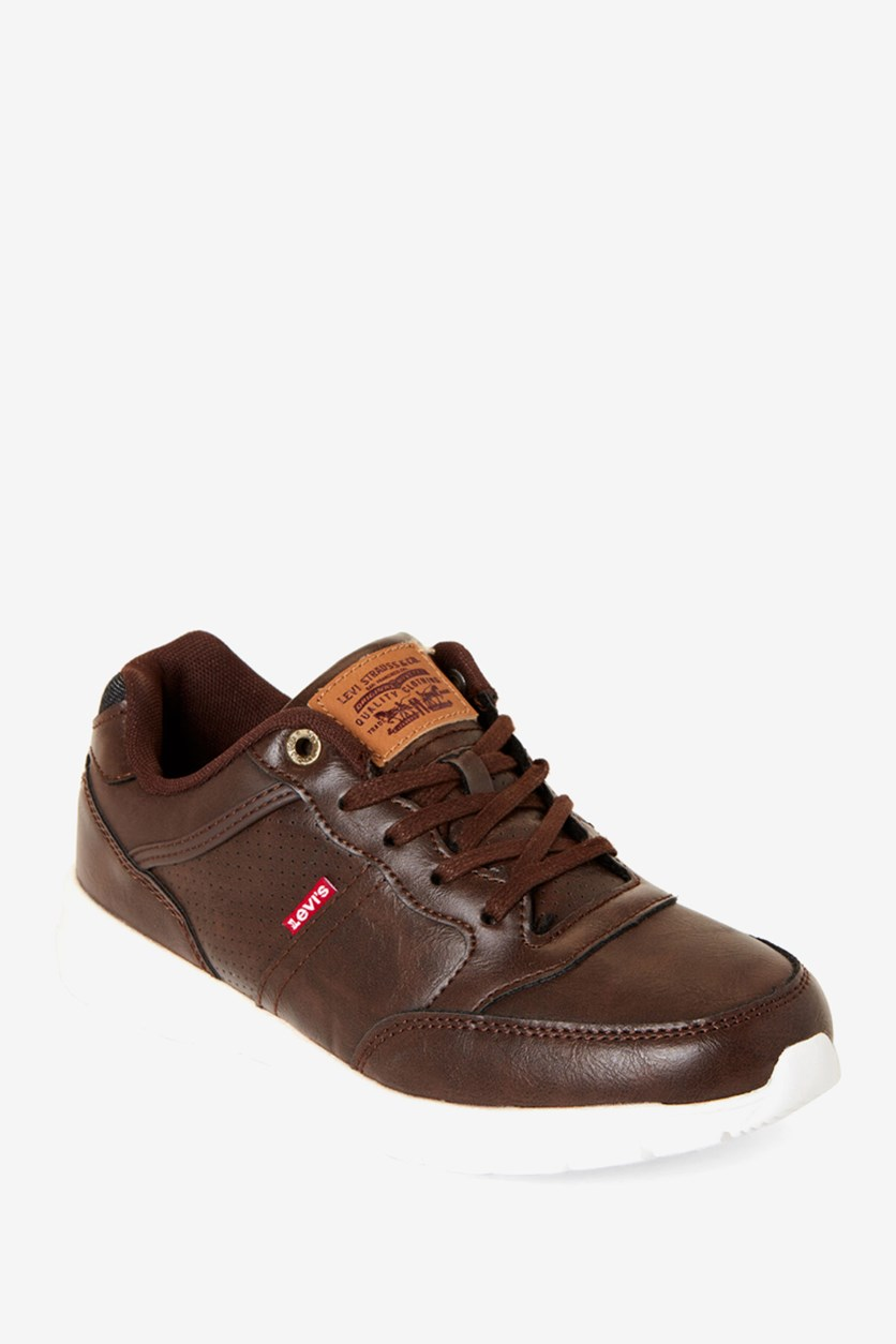 Big Boy's Staple Burnish Shoes, Brown
