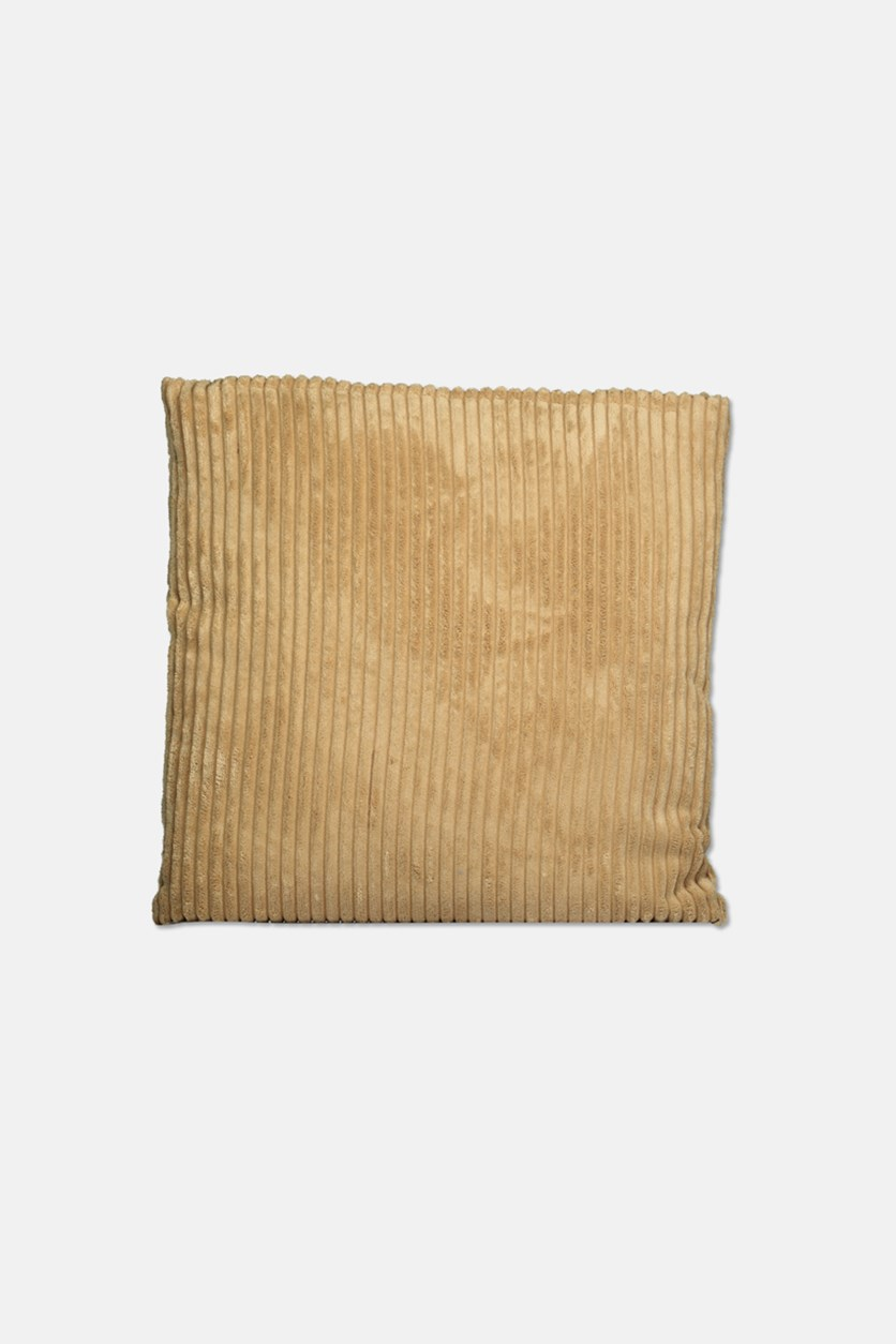 Velvet Look Cushion Pillow, Tan