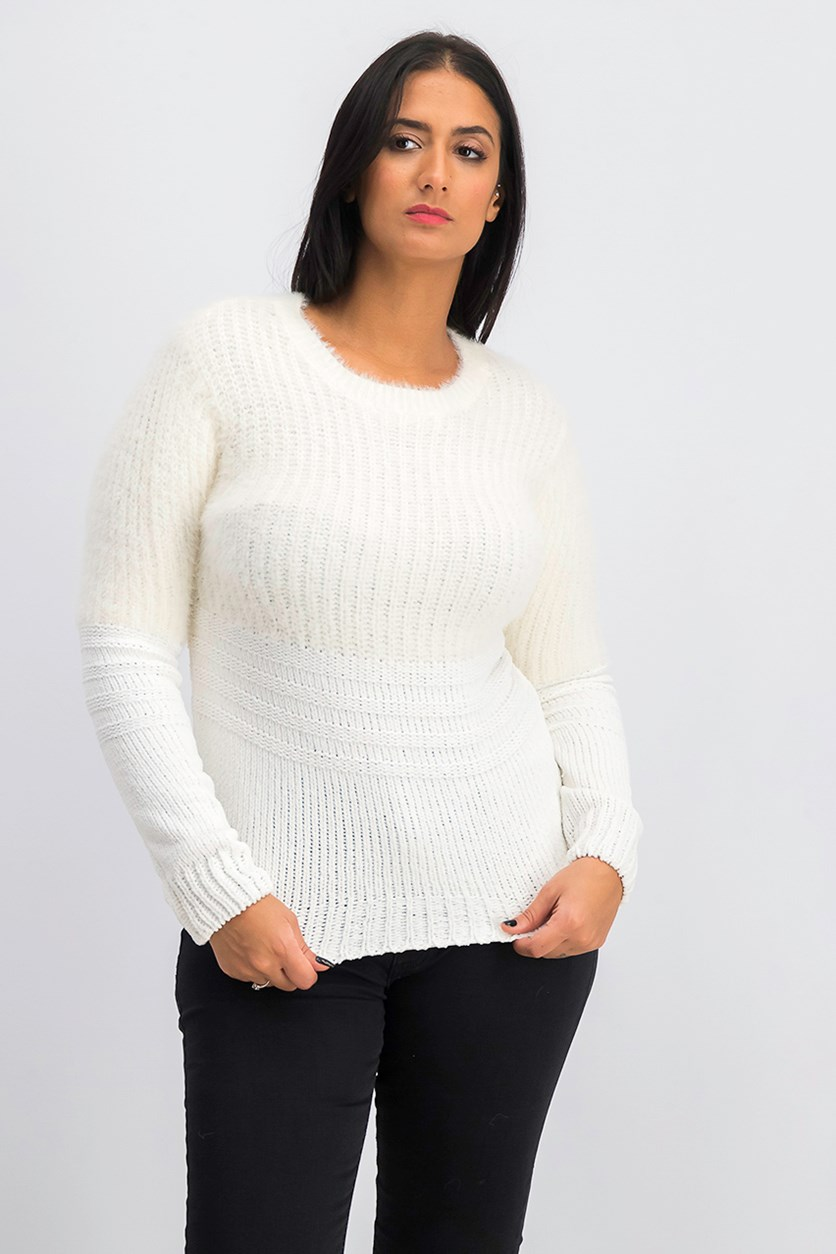 Women's Cilje Puff Sweater, Snow White