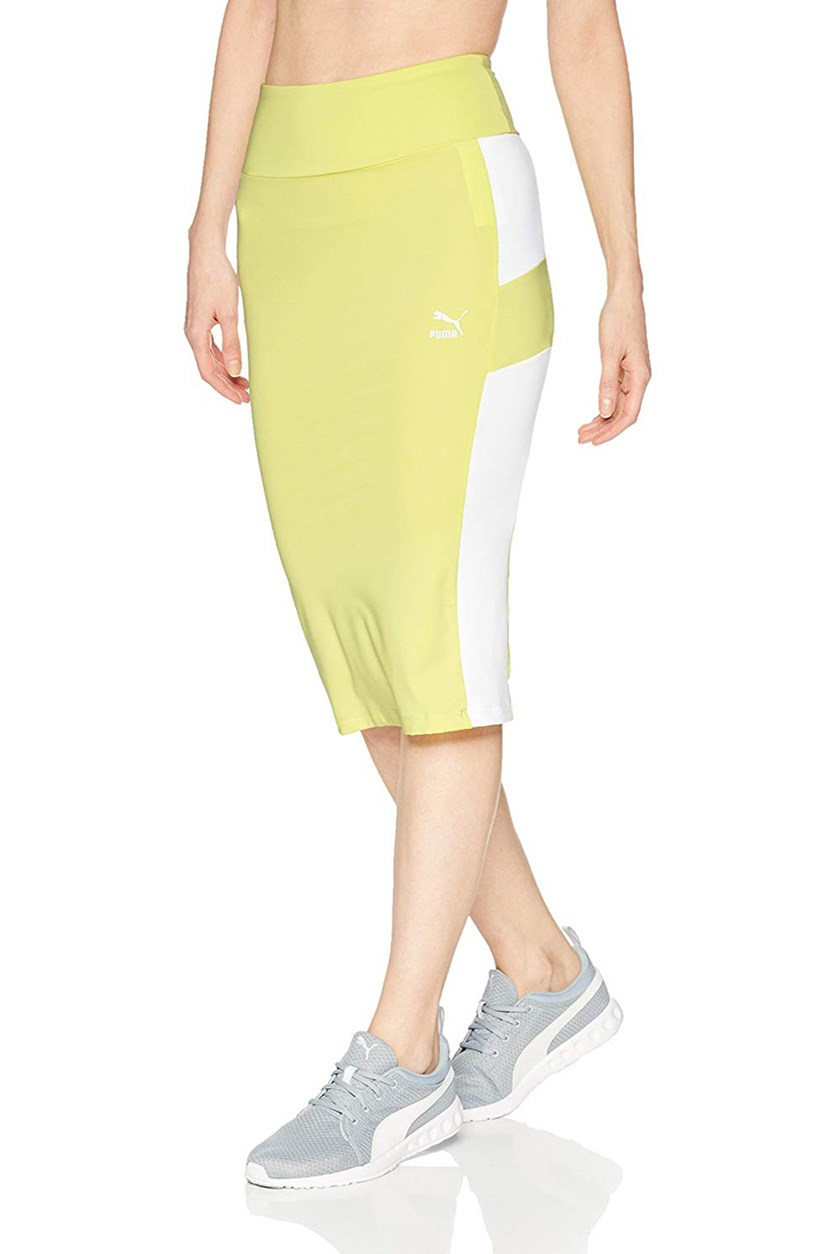 Women's Pencil Skirt, Sunny Lime