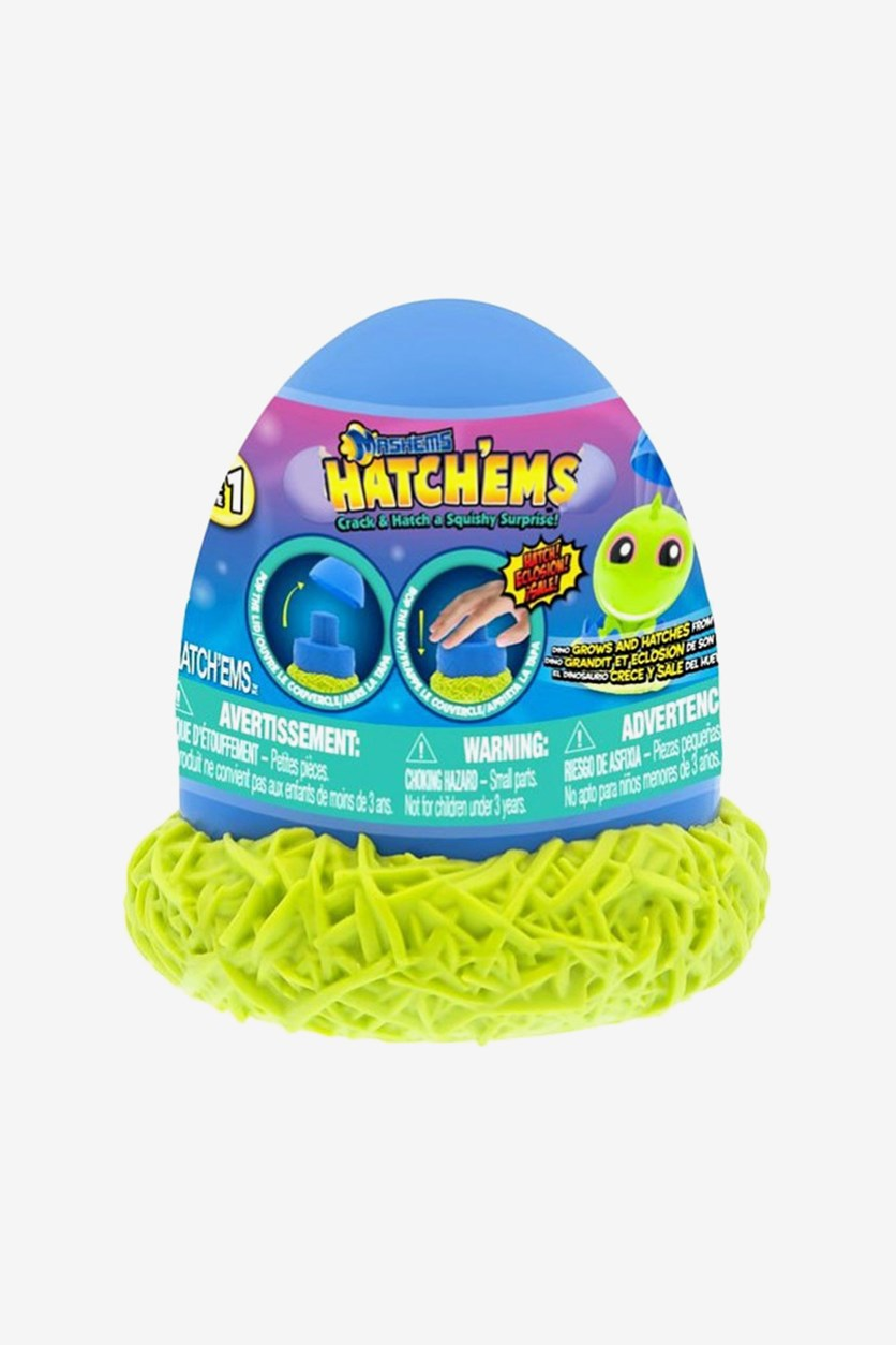Hatch'ems Series 1 Mystery Pack, Blue/Lime