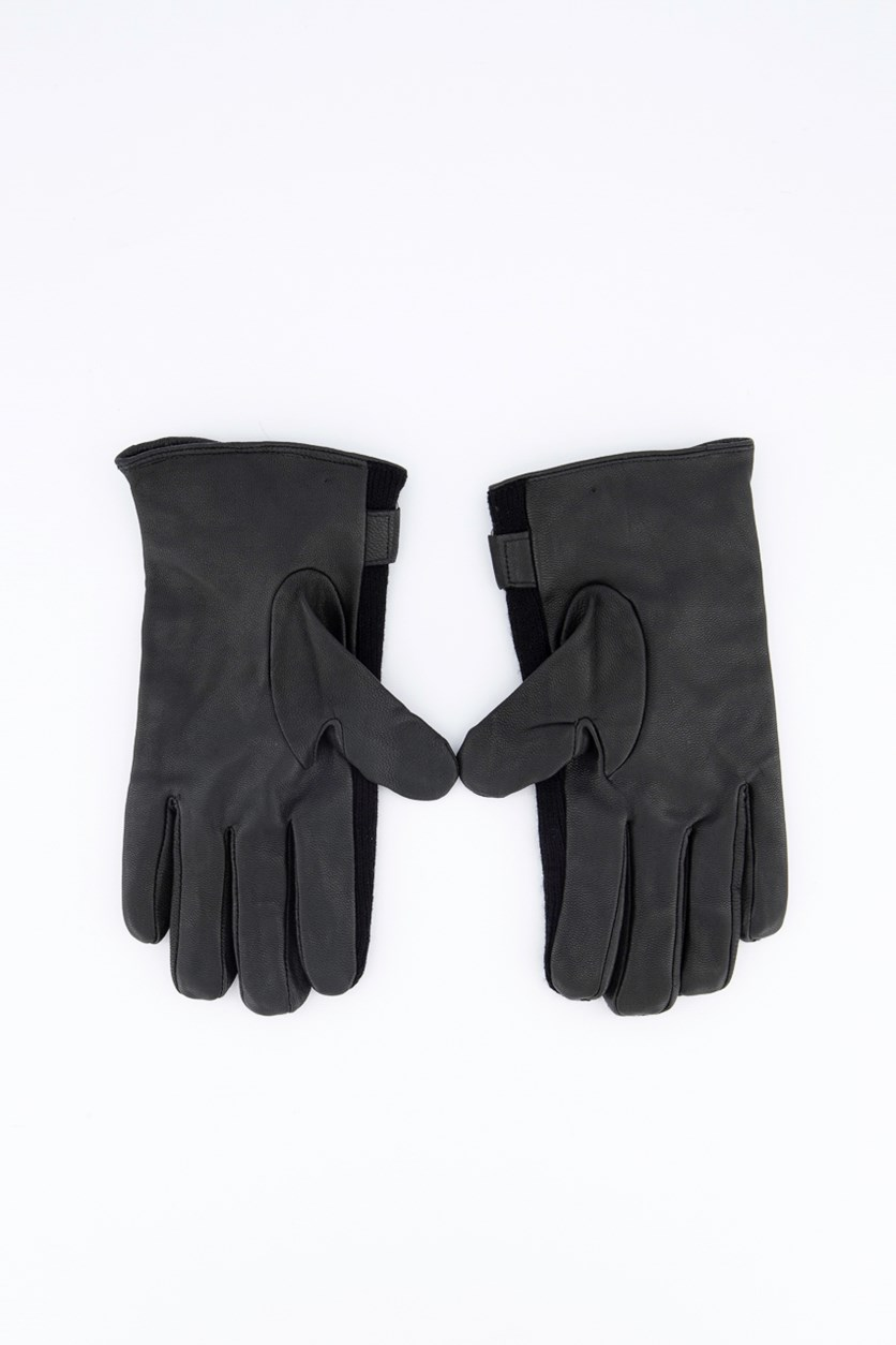 Men`s Textured Gloves, Black