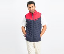 Cropp Men's Quilted Vest, Navy/Red