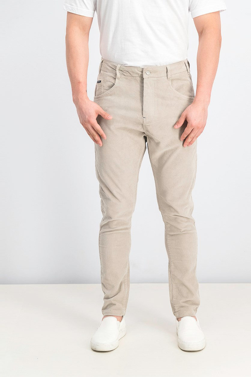 Men's Curduroy Pants, Light Grey