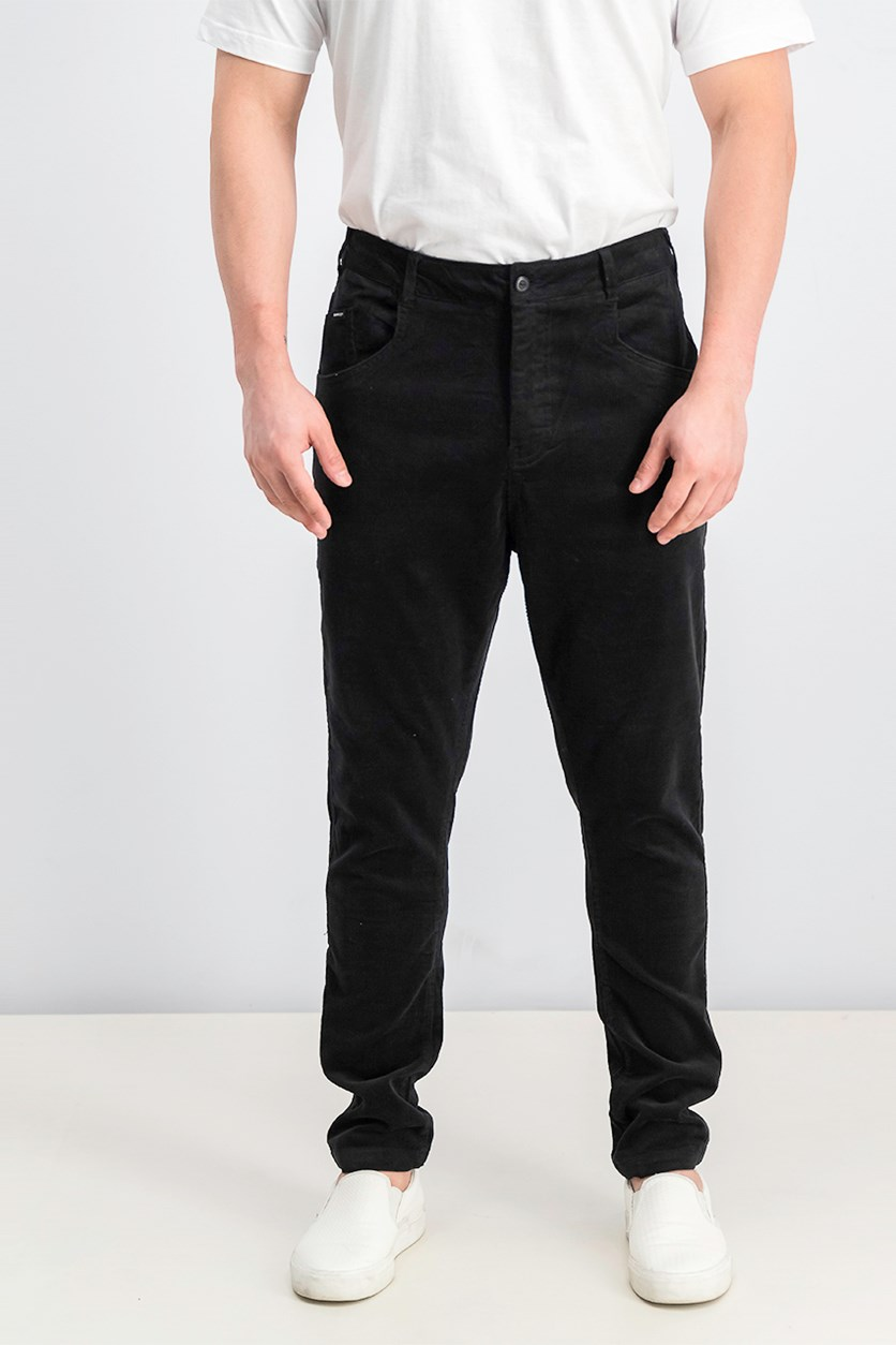 Men's Curduroy Pants, Black