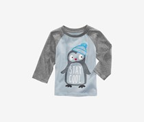 First Impressions Baby Boy's Penguin-Print Cotton T-Shirt, Gray/Blue