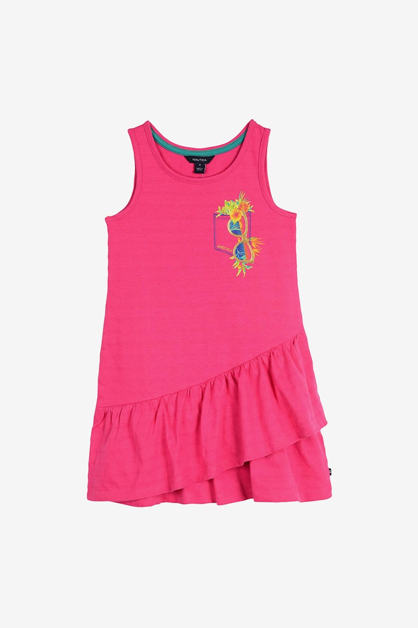 Little Girls Dress, Dark Pink