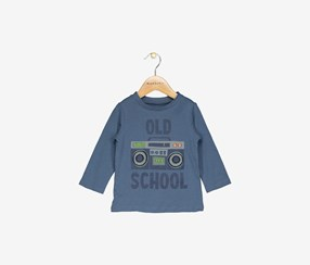 First Impressions Toddler Boys Old School Graphic Cotton T-Shirt, Heaven