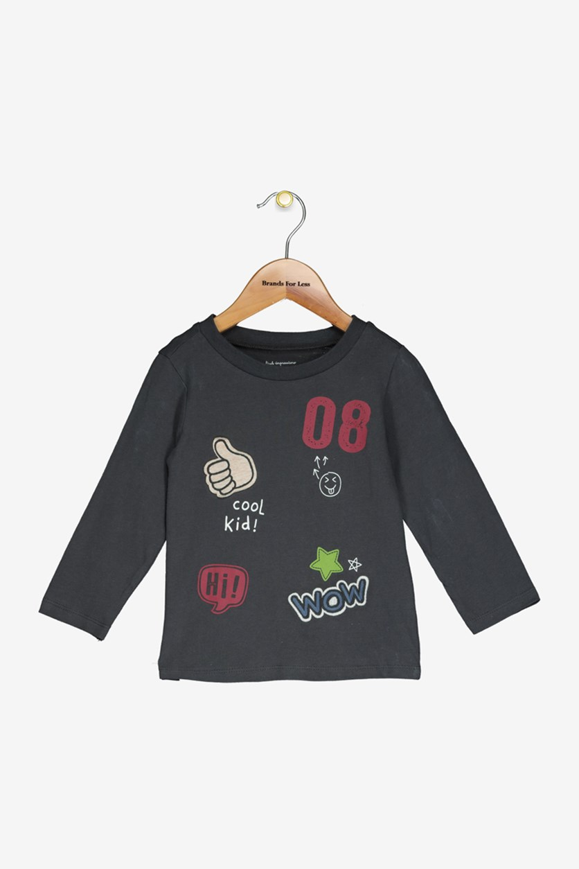 Baby Boys Cotton Patches T-Shirt, Galaxy Night