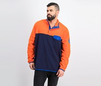 Men's Colorblocked Sweater, Spice Orange