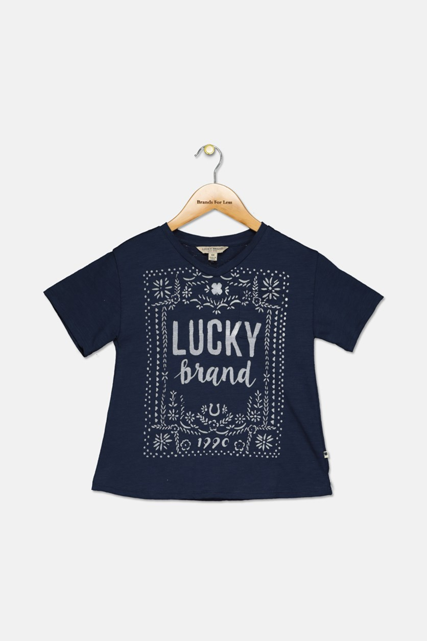 Kids Girl's Casey Tee, Navy