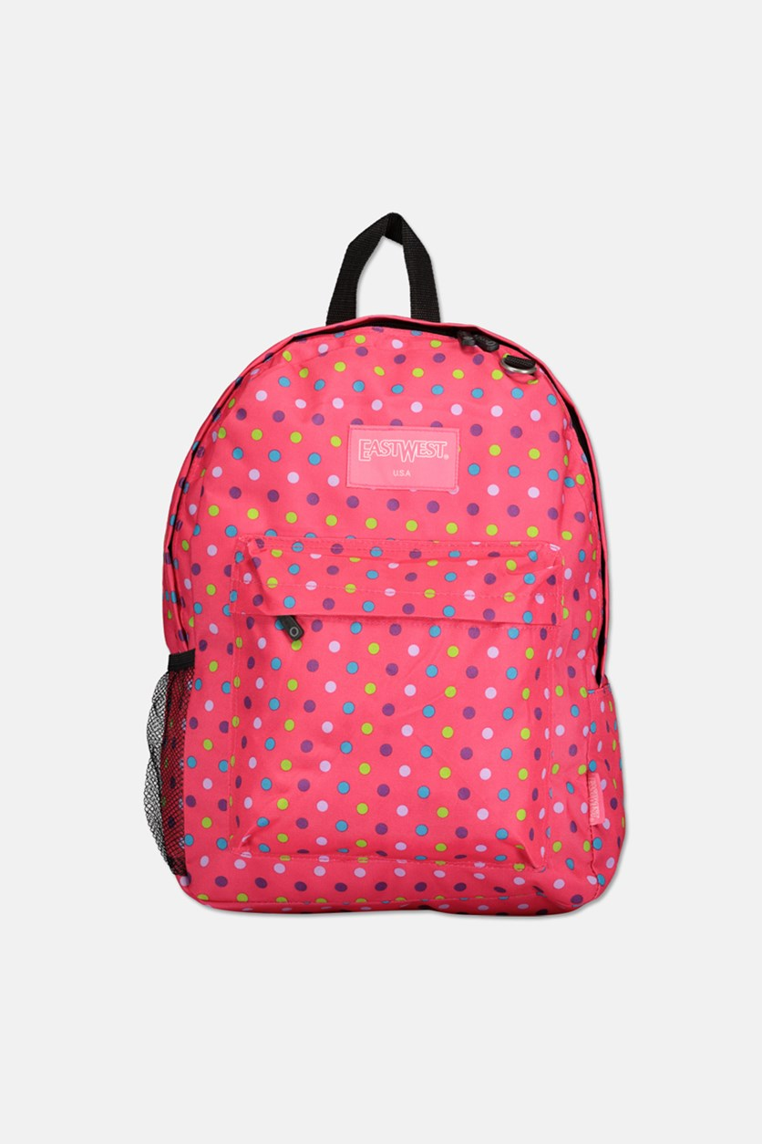 Women's Printed Backpack, Pink Combo
