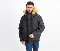 Marc New York Men's Faux-Down Hooded Bomber Jacket, Black