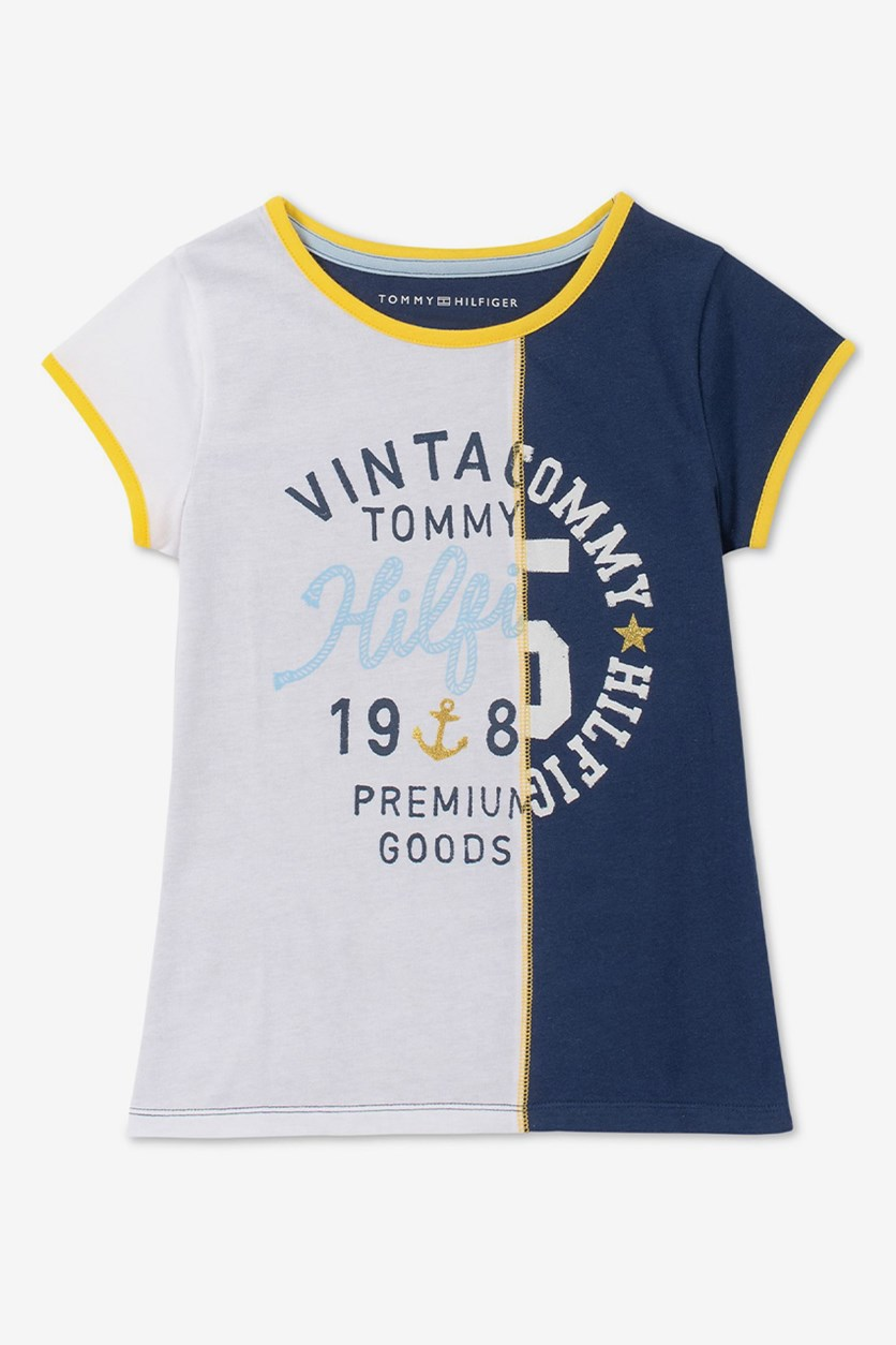 Big Girl's Vintage Tommy Tee, White