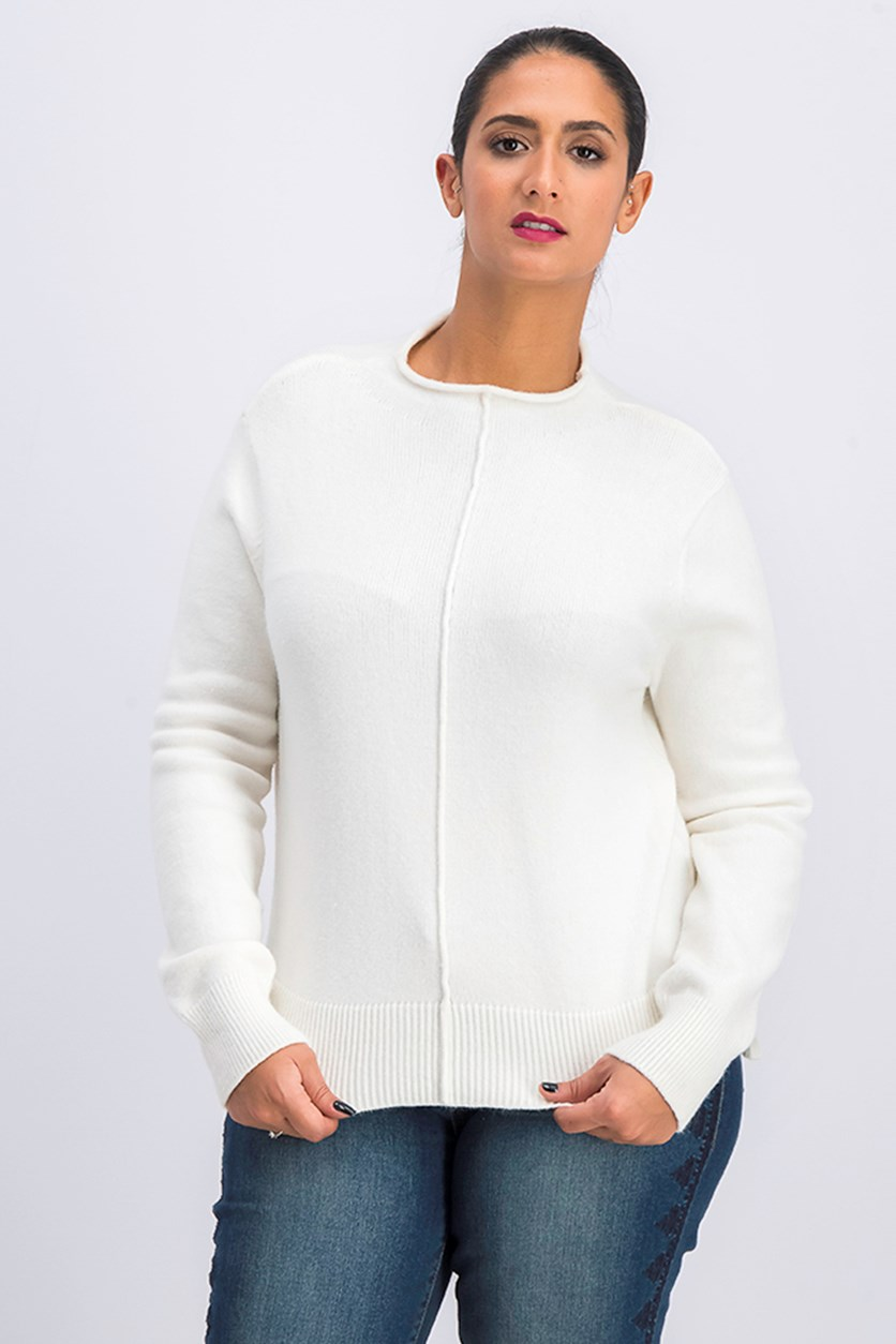 Women's Pull-Over Sweater, White