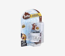 Basic Fun Poopeez Series 1 Toilet Launcher Playset Squishy Collectible Toy, White/Brown Combo