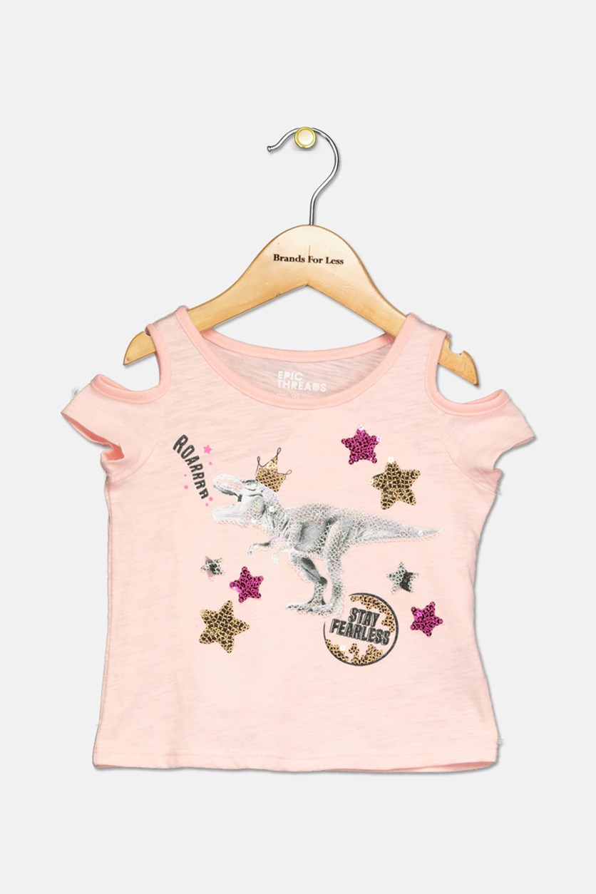 Toddler Girls Sequin Graphic-Print T-Shirt, Pink