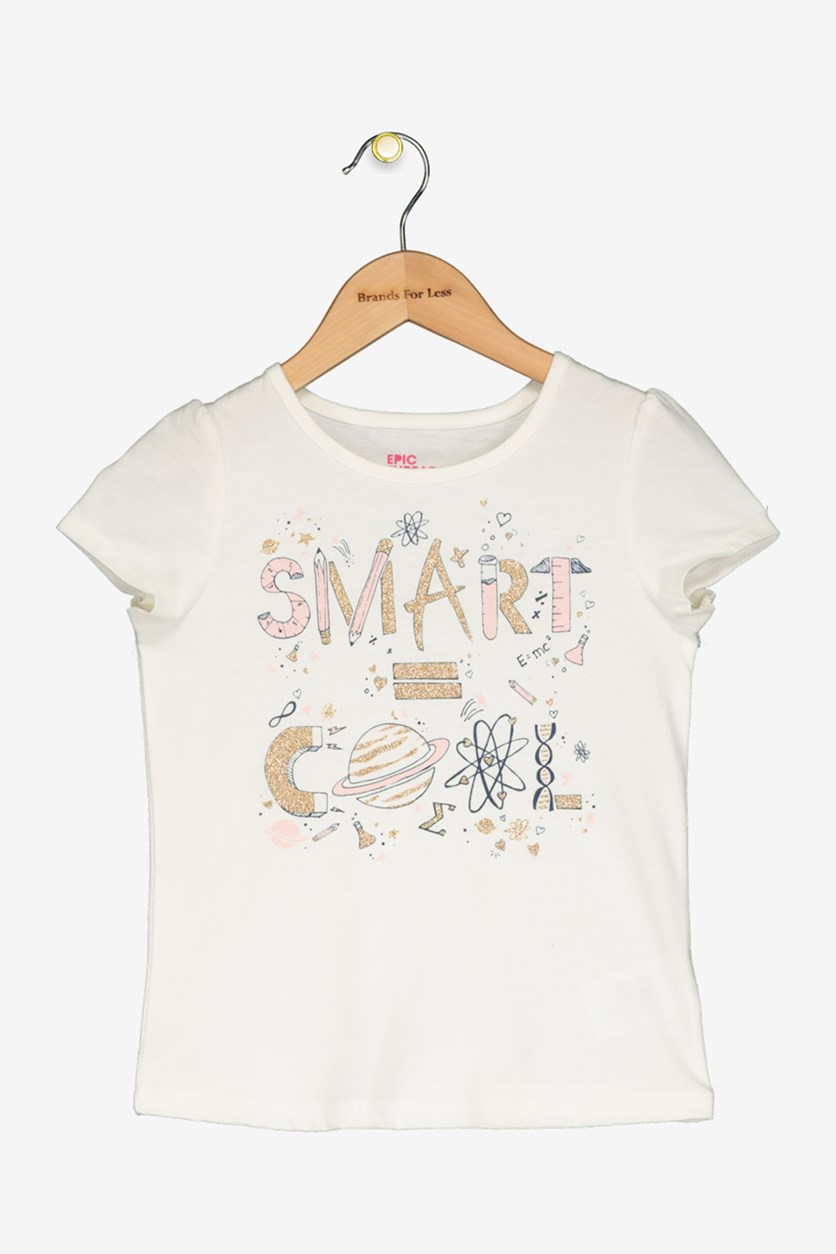 Little Girls Graphic-Print T-Shirt, Holiday Ivory