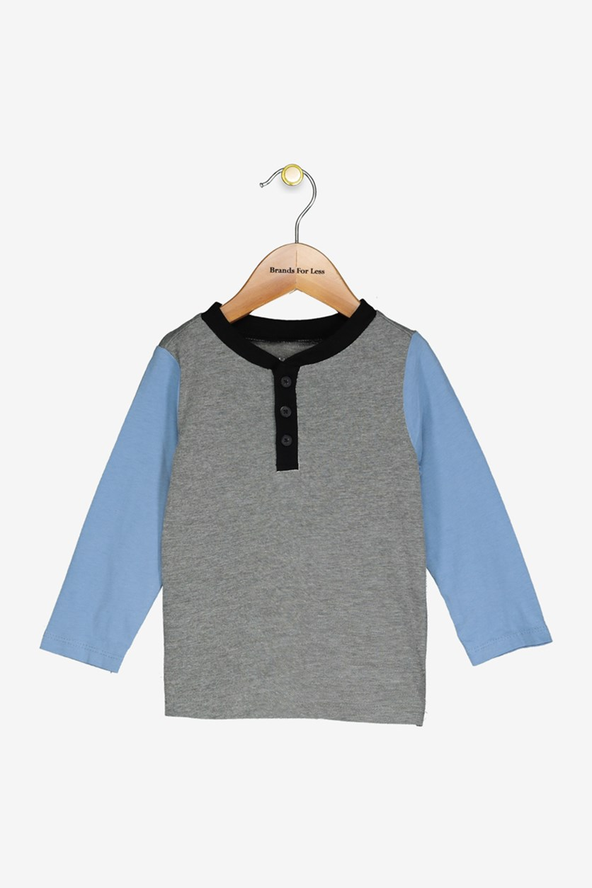 Baby Boy's Long Sleeve T-Shirt, Pewter Heather