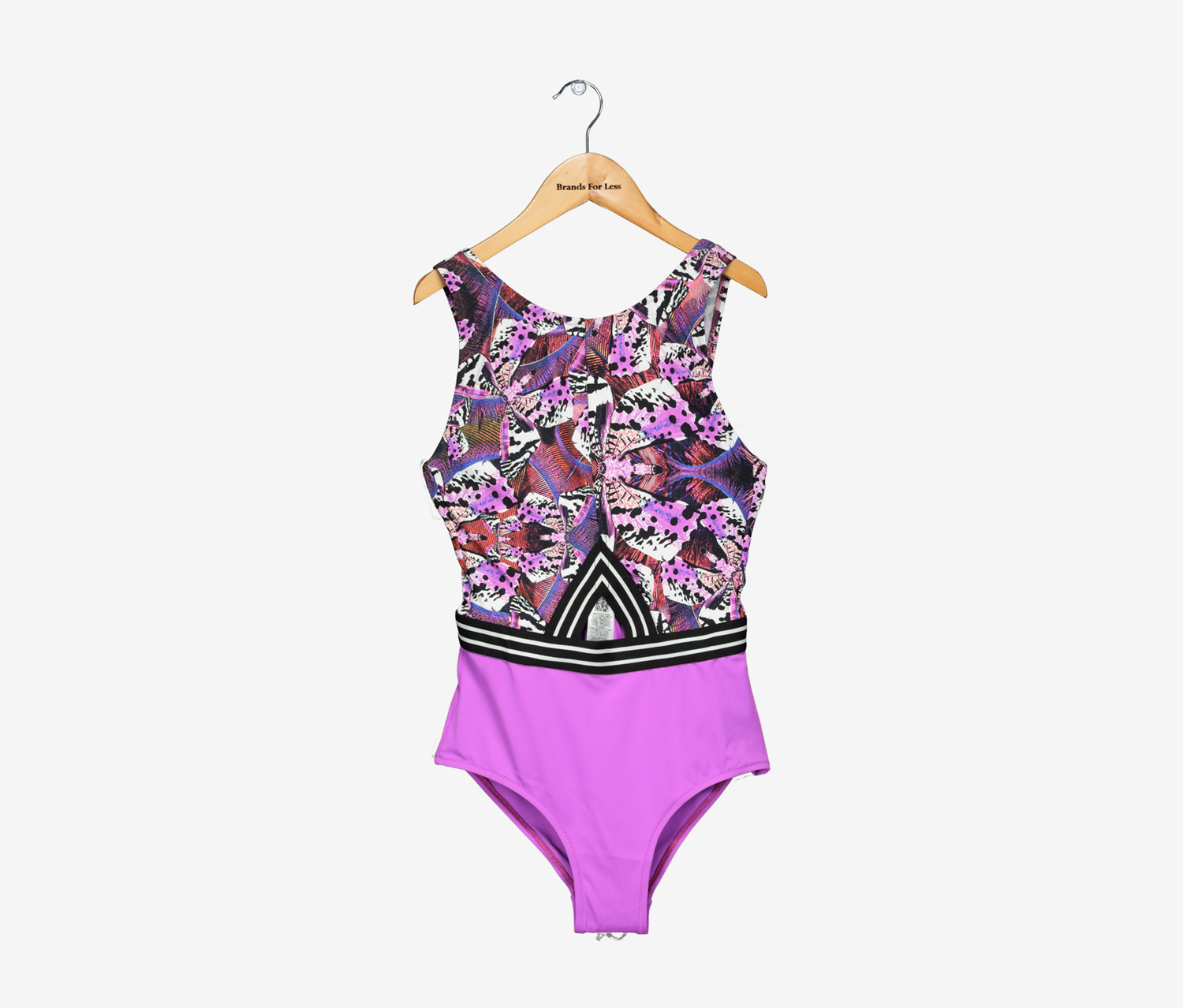 GUESS Womens Astract High Neck One Piece Swimsuit