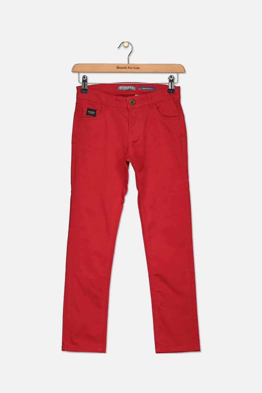 Kids Boys Regular Fit Pants, Varsity Red