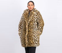 Women's Faux Fur Coat, Leopard
