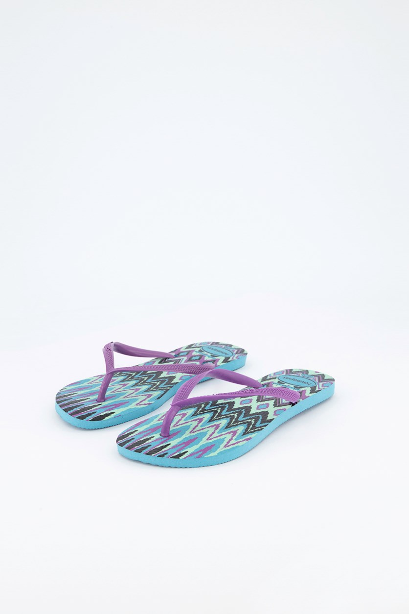 Slim Tribal Slipper, Azul Blue Combo