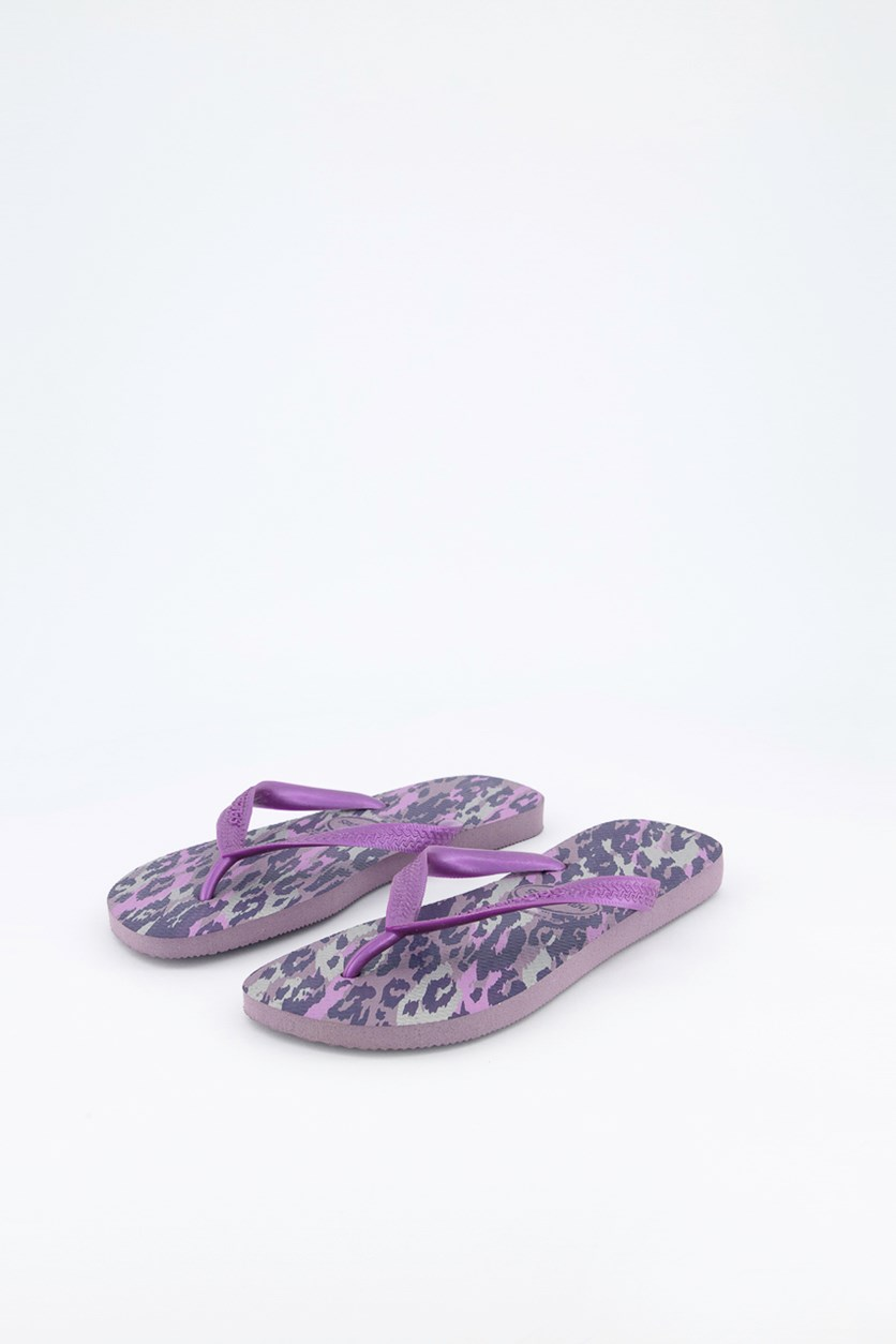 Women's Slim Animal Print Slipper, Petunia