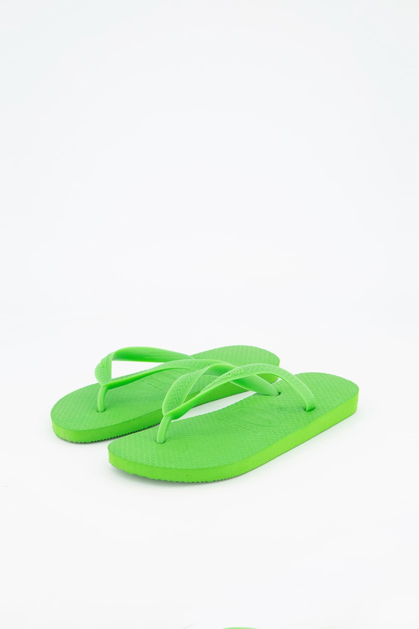 Womens Color Top Slippers, Neon Green