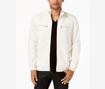 INC International Concepts Men's Bomber Jacket, Vintage White
