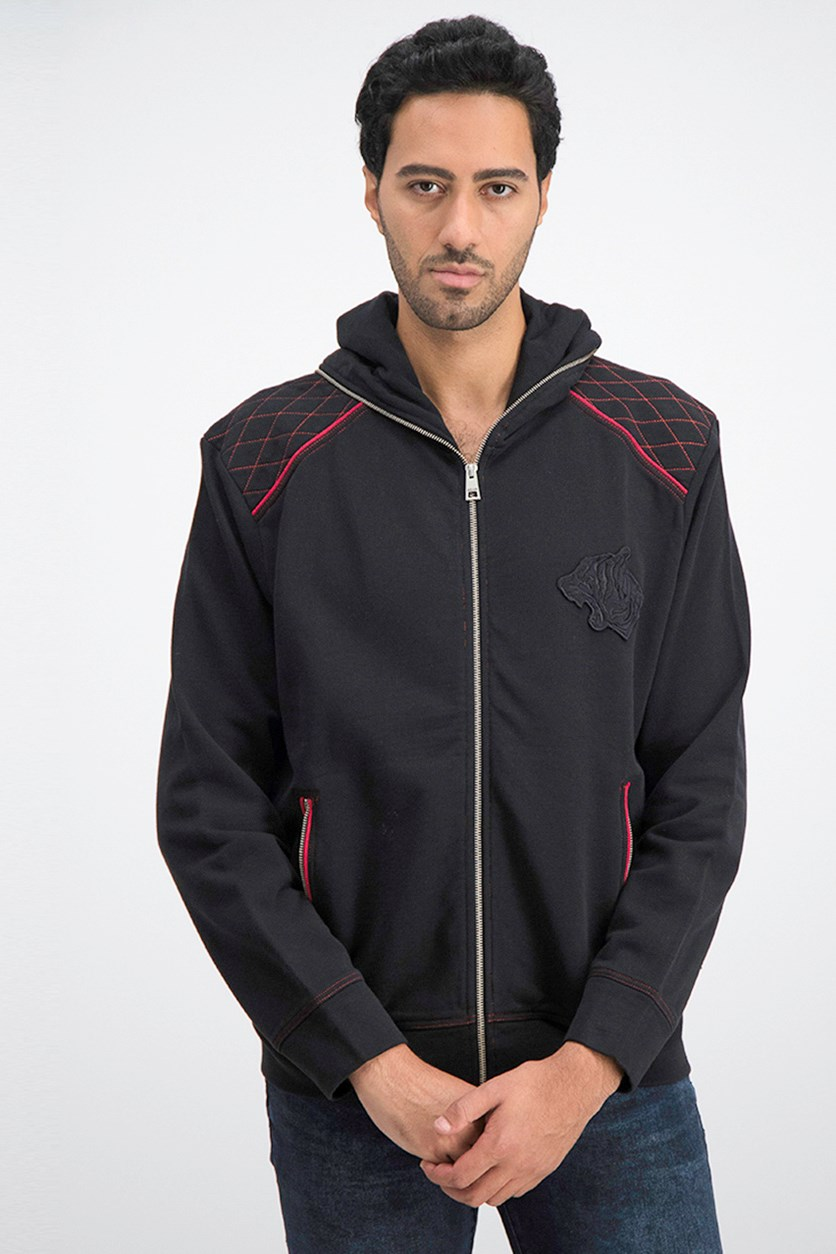 Men's Full Zip Hoodie Jacket, Black