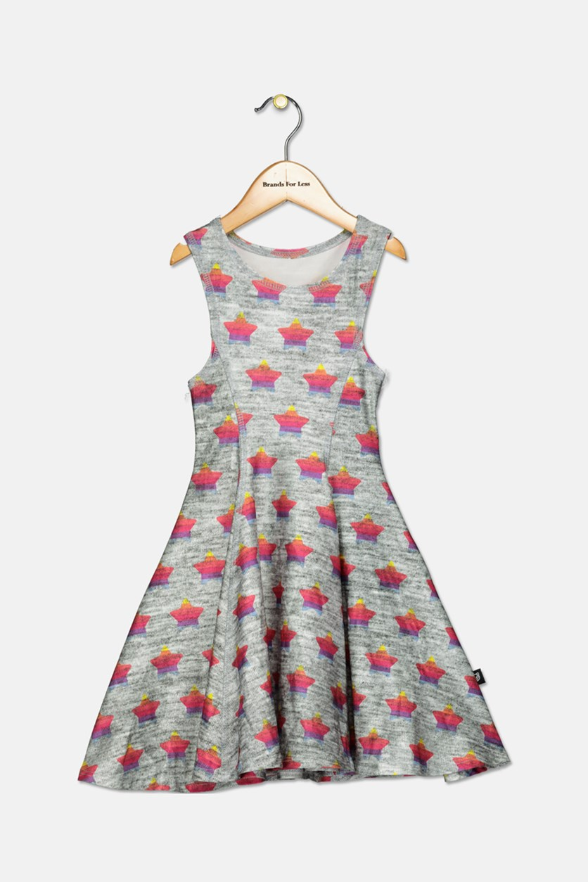 Kids Girls' a Star Is Born Dress, Grey Combo